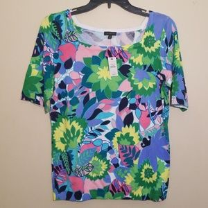 Talbots   Short Sleeve Sweater Bold Colors NWT